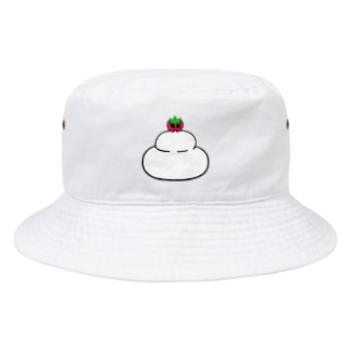 いちごのチーゴくん 鏡もち Bucket Hat