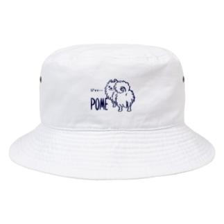 CT83いつも見ているポメラニアンA_center Bucket Hat