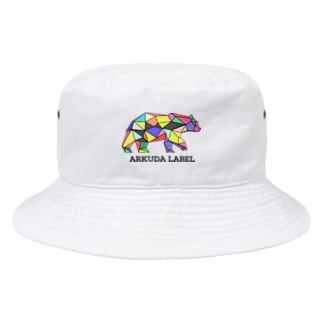 ARKUDA LABEL 黒文字 帽子 Bucket Hat