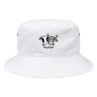 CT86 牛のギュウギュウ*A*center Bucket Hat