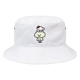てるてるネコ 通常 Bucket Hat