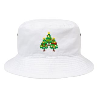 *suzuriDeMonyaa.tag*のCT89 森さんのクリスマスツリーB Bucket Hat