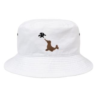 Danke Shoot Coffeeのアシカの書初め Bucket Hat