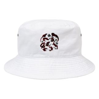 あやるの爬虫類(模様入) Bucket Hat