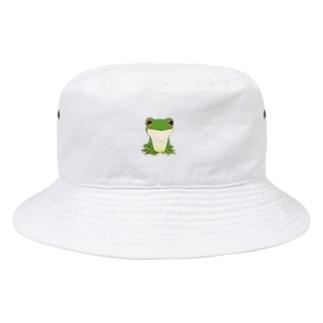 猫キャラクター・シルエット・取りたい Bucket Hat