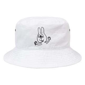 うさぎの落書き Bucket Hat