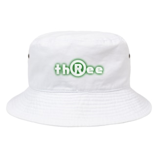 three LOGO NEON ForestGreen Bucket Hat
