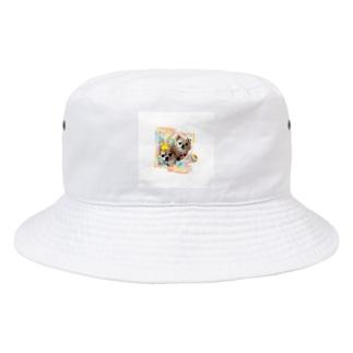 絵画風のチビちゃんとココちゃん Bucket Hat