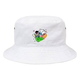 もぐもぐ文鳥ず② Bucket Hat