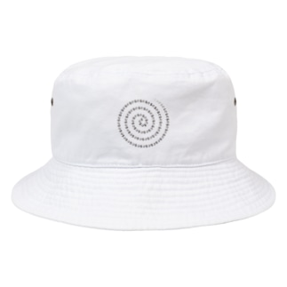 *suzuriDeMonyaa.tag*のCT93ぐるぐるB*右回り*時計回り Bucket Hat