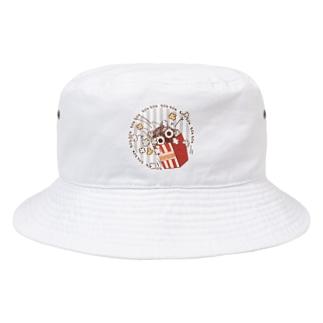 CT92 もじゃもじゃ★ぱっふんのポップコーン Bucket Hat