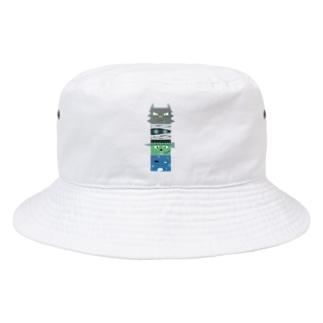 西の妖怪トーテムポール Bucket Hat
