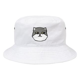 流し目マヌルネコ Bucket Hat