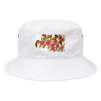 レトロ家具にありそうな花 Bucket Hat