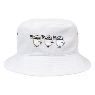 やせいのぐーにゃん(道化) Bucket Hat