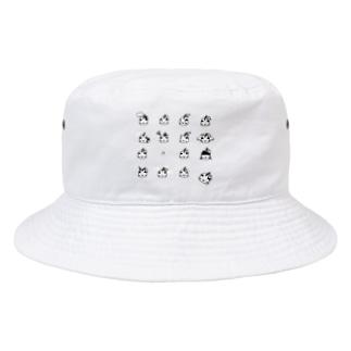 おやじりんご図鑑モノクロVer. Bucket Hat