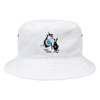 I'm lateラビット Bucket Hat
