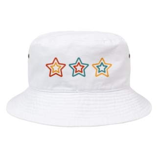 3sTar☆Coon-Tricolor  Bucket Hat