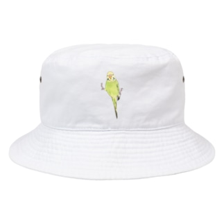 ピタッとセキセイインコちゃん【まめるりはことり】 Bucket Hat