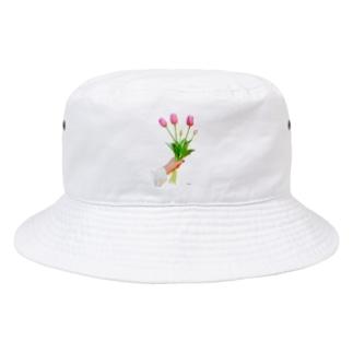 ぴんくチューリップfor you Bucket Hat