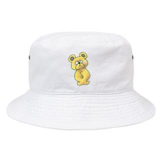 はとむあずきの幸運の「くまくん」 Bucket Hat