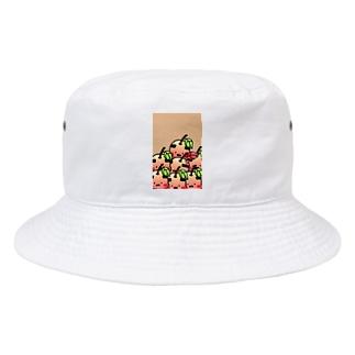 おやじりんご たくさんいる Bucket Hat