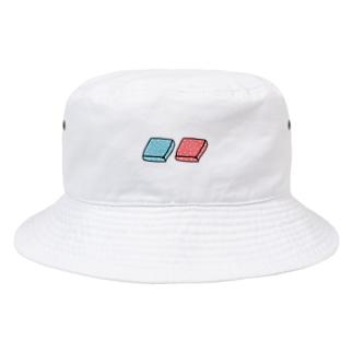 四角いグミ【ちょいビビッドカラー】 Bucket Hat