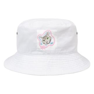 見つめるニャンコ Bucket Hat