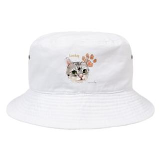 うちの子にくきゅうポートレート★Lucky Bucket Hat