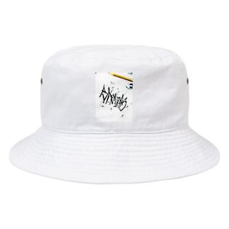 BANMIKAS  Scribble print Bucket Hat