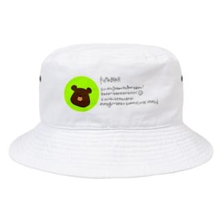 KUMABEAR ゆる手書きメッセージ Bucket Hat