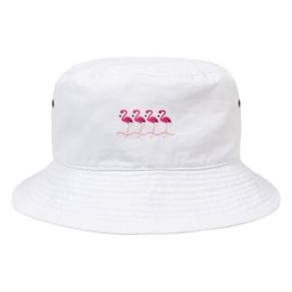 CT102 フラミンゴのメッセージB Bucket Hat