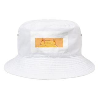 白枠付き!Tra ねこみみマーク Bucket Hat