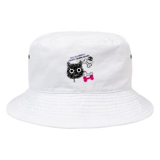CT107 もじゃもじゃ★ぱっふん*wanwanwanA Bucket Hat