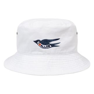 スワローマークデニムワッペン風 Bucket Hat