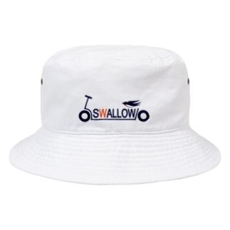 キックボード風スワローロゴ Bucket Hat