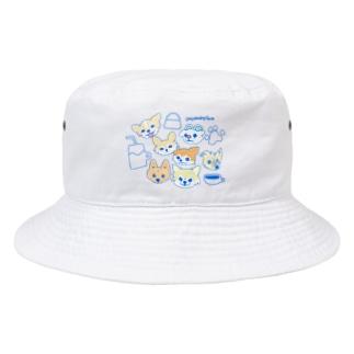 「保護犬カフェ支援」グッズ 犬 大集合 カフェバージョン Bucket Hat