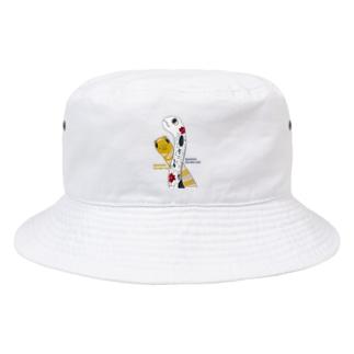 Kinkadesign うみのいきものカワイイShopのチンアナゴニシキアナゴ2020 Bucket Hat
