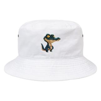 メガネカイマン、立つ! Bucket Hat