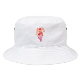 ピンク肩車ンちゃん Bucket Hat