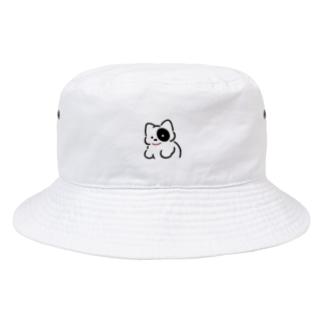 みかたきなこのボーロといっしょ 白 Bucket Hat