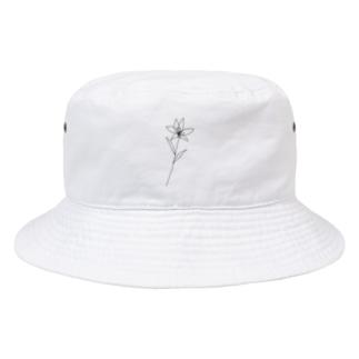 flower black Bucket Hat