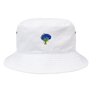 彼氏に渡した青いかすみ草 Bucket Hat