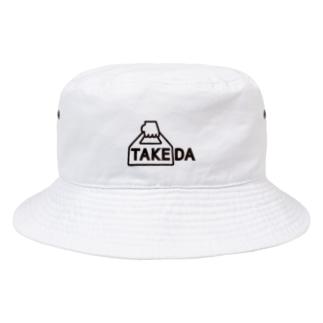 TAKEDA vo.1 BLACK  FONT Bucket Hat