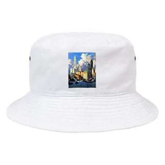 コリン・キャンベル・クーパー 《ハドソン河畔》 Bucket Hat