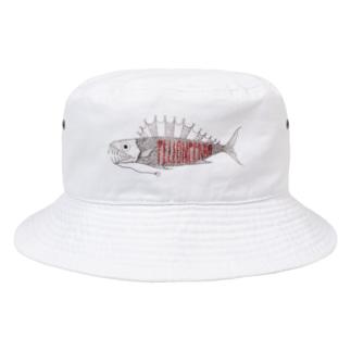 こわいおさかな Bucket Hat