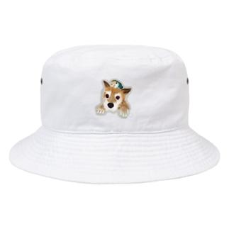 仲良しさん(わんこ&コザクラ)【薄色地用】 Bucket Hat
