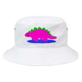にこにこゆるきょうりゅう① Bucket Hat
