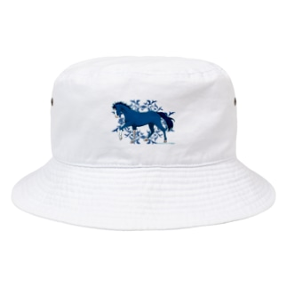 BLUE HORSE Bucket Hat