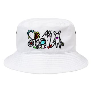 秘密のもじ絵 Bucket Hat